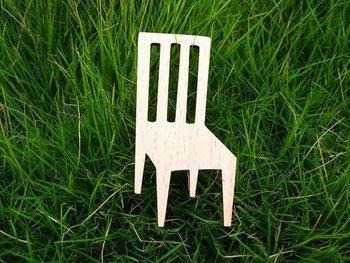 wooden furniture chair wooden brooch