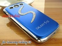 Aluminum Hard Chrome Case Back Cover Mobile Phone Case for Samsung Galaxy S3 III i9300