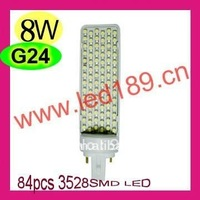 8W LED G24 (Promotional Sales) Freeshipping & Wholesale Price, G23/G24/E27 Base!