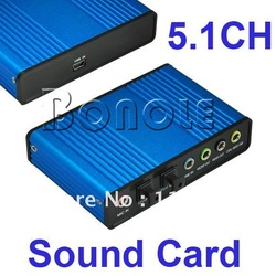 Promotions!! High Quality USB 6 Channel 5.1 Optical Audio Sound Card S/PDIF Free Shipping 177(China (Mainland))