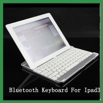 Free shipping Ultrathin Bluetooth Wireless Keyboard for PC Macbook Mac ipad 2, the new ipad ipad 3 White
