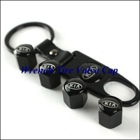 1set wrench tire valve caps with KIA car logo 4pcs caps+1pc wrench HOT SELLING