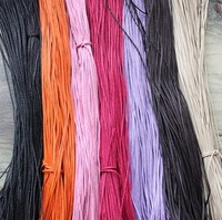 Hot sale! Wholesale dia. 1.0mm  Waxed Cotton Necklace Cord string thread bead (25 colore)