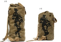 Free Shipping,Outdoor,Backpacks,Mountaineering Bags,Travel bags,Army Canvas Bag,Military Green,brown,black,Mix order,