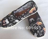 2012 NEW fashion Flats shoes Euramerican style Dazzle colour design Canvas shoes (5 pcs/lot)5 Pairs