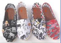 2012 NEW Euramerican style Dazzle colour design Canvas shoes (10pcs/lot)