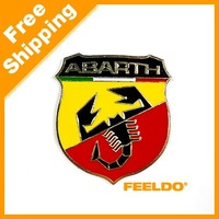 Car Brand New Metal 3D Badge Emblem Sticker Decal for Fiat Abarth 124/125/125/500 SKU:2923