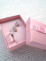 GAGA ! Free shipping pink  ring case , cardboard ring box   ,  earring case ,QT08