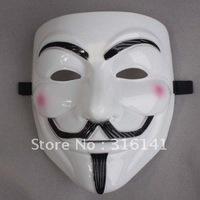 EMS/New V For Vendetta Full Face Mask Collectors Proper White Costume Plastic in Free shipping wholesale