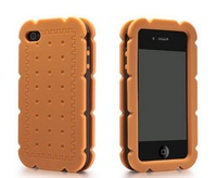 Free shipping 15pcs/lot Biscuits cases for iphone 4 4S bags mobile phone bumpers shell wholesale