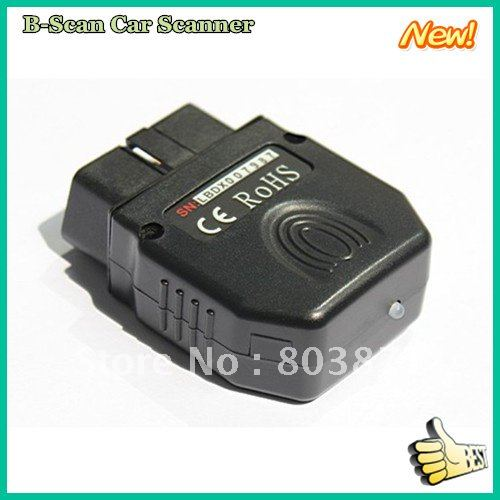 100% warranty OBD 2 scanner diagnostic tools B-Scan Car Scanner Android operating system cell phone(China (Mainland))