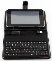 Free Shipping 7inch tablet pc Keyboard Flip Stand Case Cover USB Keyboard