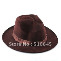 Wool Felt Cowboy Hat/Stetson for Men - Coffee - 55654