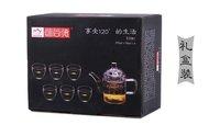 Heat resistant glass TZ081 BEST QUALITY Tea pot capacity is 400MLwith 6 pcs cups 80ML tea set gift box