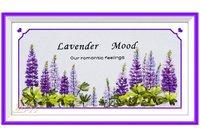 Beautiful And Romantic Lavender Mood Cross Stitch Fashion Diy Silk Ribbon Embroidery +Free Shipping