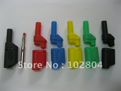 4mm Full Seal Insulated Stackable Safety protection Banana Plug 5 colors 54mm RH-2074 25 Pcs Per Lot High Quality HOT Sale(China (Mainland))