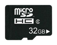 FREE shipping Class 6 32GB MicroSD Micro SD Transflash TF Card with 32GB real capacity + Adapter