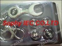 1set Spanner wrench tire valve caps with Black Hyundai car logo 4pcs caps+1pc wrench