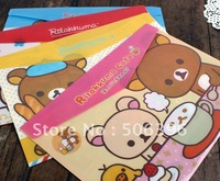 Free Shipping Cartoon rilakkuma designs File folder / A4 documents file bag / document bag Wholesale F51