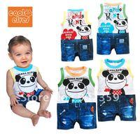 6pcs/lot New summer cool elevs Anpanman sleeveless short Romper Infant Baby Jumpsuit Romper