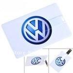 Credit Card Style USB 2.0 Flash Drive U Disk 4GB/8GB/16GB/32GB  Memory - VW Pattern