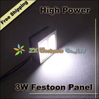 Super Bright Free shipping + 10pcs/lot + Car led light 3W  High Power Interior reading festoon dome panel + T10 + Dome adapter