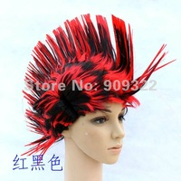 Spike Hair Cockscomb Wig Colourful,Halloween party Cosplay Wigs,For Costume Ball Performance 1pcs Free shipping!
