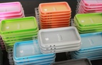 80pcs/lot Freeshipping Bumper Case for iPhone 4S, Bumper Case with Metal Button for iPhone 4 4G 4S 4GS with Retail package