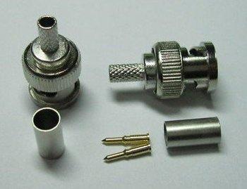 30PCS  BNC Plug Crimp Coaxial Connector 3-Piece for RG58 adapter