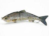 Fishing Lure 4 Segment Swimbait Crankbait Hard Bait Fresh Water Shallow Water Bass Walleye Crappie HS4 Fishing Tackle HS4X397