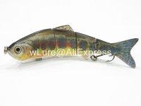 Fishing Lure 4 Segment Swimbait Crankbait Hard Bait Fresh Water Shallow Water Bass Walleye Crappie HS4 Fishing Tackle HS4X405