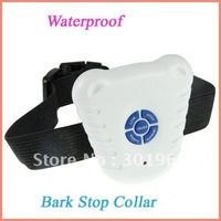 100pcs/pack OPP bag New Ultrasonic Pet Dog Anti Bark Stop Training Collar Bark contral dog collar dog training machine
