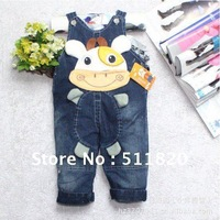 free shipping 2012 hot new hot sale children's overalls/0~3 age baby girls' boy's autum&winter trousers,jeans
