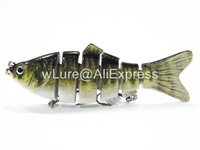 Fishing Lure 6 Segment Swimbait Crankbait Hard Bait Fresh Water Shallow Water Bass Walleye Crappie Minnow Fishing Tackle HS6X374