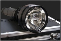 Rechargeable HID Torch 3500Lm Lumen 35W/28W Dual Power 1000Meters Xenon Light Tail Light Black Aluminum Alloy HID Flashlight