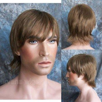 aliexpress synthetic hair light brown short mens