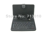 "Leather Case Bag & USB Keyboard for 7 inch 7"" Tablet Android PC MID epad pad (Black) +Free shipping"