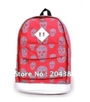 2012 New Skulls Canvas Backpack School Bag Backpack Korean junior high school and senior high school students bags