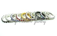 1 ROW PARTY CLEAR RHINESTONE Multi CRYSTAL WEDDING RING 10pcs/lot Free Shipping R1149