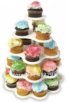 27 Count 5 Tier CUPCAKE DESSERT HOLDER STAND Cake Muffin Wedding