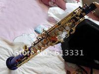best Blue Soprano Saxophone Caiqi down B tenor sax in stock