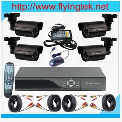 Free shipping, 4PCS 24IR LED D/N Waterproof Cameras 4CH H.264 Realtime Network DVR CCTV System(Hong Kong)