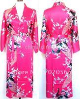 Ladies womens Satin Pajama Pjs Lingerie Sleepwear Robe Kimono pjs 10pcs/lot