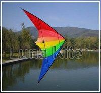 New Dual Line Sport Kite Raibow Apple Style+ 2*25m 150lb dyneema Line+Wrist Straps LK005 Zig-zig sewing