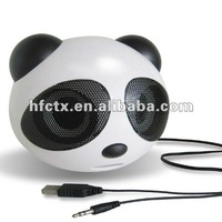 Free shipping panda Style stereo Usb speaker for notebook