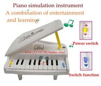11 key children vertical grand piano with light baby musical toy keyboard kids simulation musical toys gifts+ free shipping
