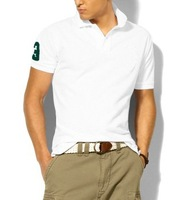 New 2012 Summer Casual Mens Short-sleeved T-shirt Men's Fashion Polo Cotton T-Shirts Polo Shirts in Sports design T8001