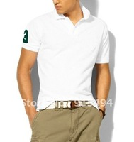 free shipping 2012 Summer Men's Fashion designer brand Polo Cotton T-Shirts Polo Shirts in Sports design all colors