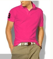Summer 2012 Men's polo shirt Short Sleeve cotton classic T-Shirt men retail/wholesale M L XL XXL Free shipping