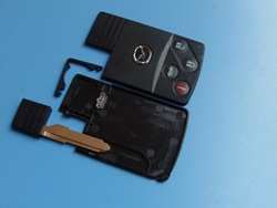 Top quality Mazda smart card shell 3+1 button,remote control key card(China (Mainland))